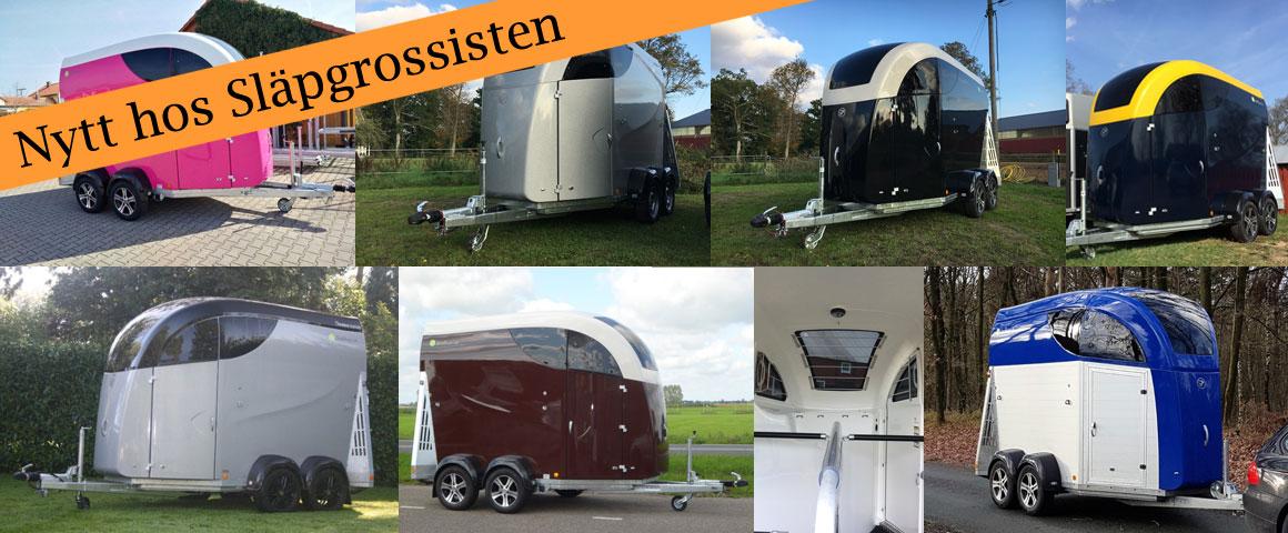 Tyska Careliner – hästsläp med riktigt snygg design och med isolerade väggar i glasfiber eller aluminium! Högt i tak, extra bredd och rostfria detaljer som också gör känslan av klass uppenbar!